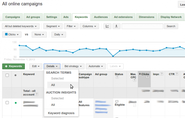 Details - Search Terms - All
