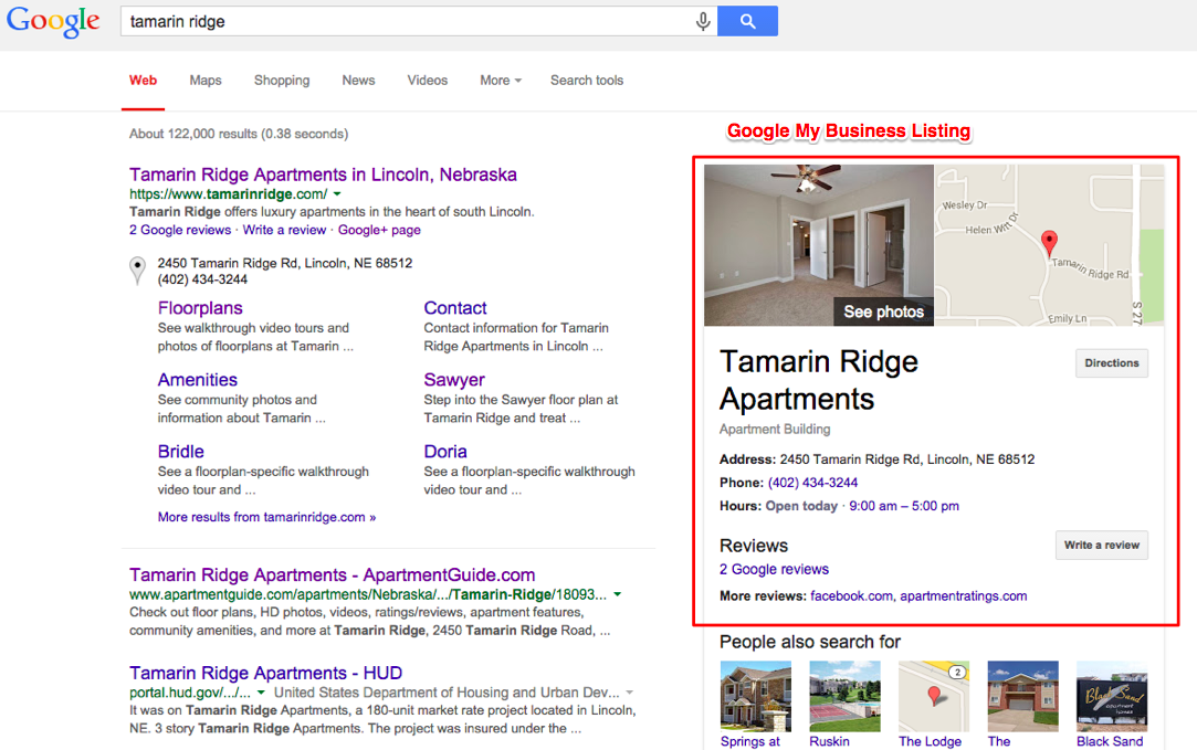 google-my-business-apartments-google-serp
