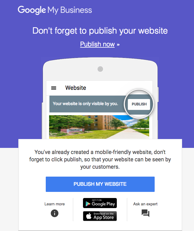 google-my-business-website-builder-solicitation-email